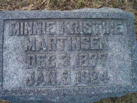 MARTINSEN, MINNIE KRISTINE - Dodge County, Nebraska | MINNIE KRISTINE MARTINSEN - Nebraska Gravestone Photos