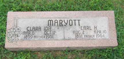MARYOTT, CLARA IDA - Dodge County, Nebraska | CLARA IDA MARYOTT - Nebraska Gravestone Photos