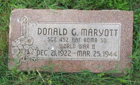 MARYOTT, DONALD G. - Dodge County, Nebraska | DONALD G. MARYOTT - Nebraska Gravestone Photos
