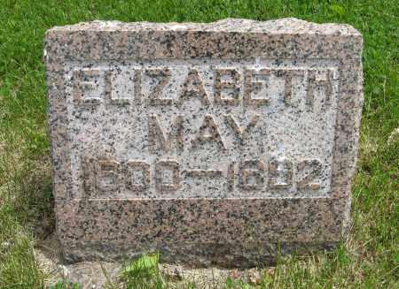 MAY, ELIZABETH - Dodge County, Nebraska | ELIZABETH MAY - Nebraska Gravestone Photos