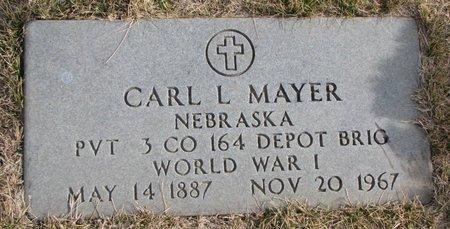 MAYER, CARL L. (MILITARY) - Dodge County, Nebraska | CARL L. (MILITARY) MAYER - Nebraska Gravestone Photos