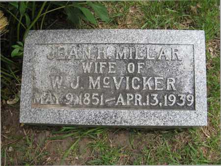 MILLAR MCVICKER, JEAN H. - Dodge County, Nebraska | JEAN H. MILLAR MCVICKER - Nebraska Gravestone Photos