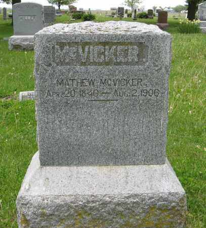 MCVICKER, MATHEW - Dodge County, Nebraska | MATHEW MCVICKER - Nebraska Gravestone Photos