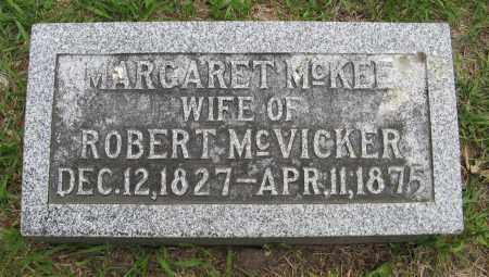 MCVICKER, MARGARET - Dodge County, Nebraska | MARGARET MCVICKER - Nebraska Gravestone Photos