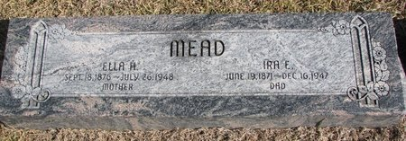 MOLLE MEAD, ELLA A. - Dodge County, Nebraska | ELLA A. MOLLE MEAD - Nebraska Gravestone Photos