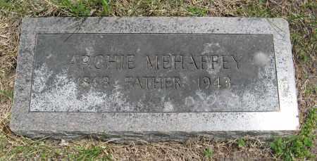 MEHAFFEY, ARCHIE - Dodge County, Nebraska | ARCHIE MEHAFFEY - Nebraska Gravestone Photos