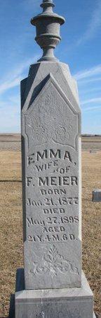 MEIER, EMMA - Dodge County, Nebraska | EMMA MEIER - Nebraska Gravestone Photos