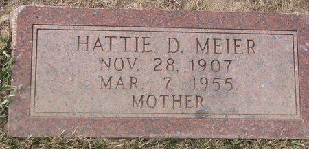 "MEIER, HEDWIG DORIE ""HATTIE"" - Dodge County, Nebraska | HEDWIG DORIE ""HATTIE"" MEIER - Nebraska Gravestone Photos"