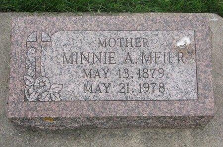 MEIER, MINNIE A. - Dodge County, Nebraska | MINNIE A. MEIER - Nebraska Gravestone Photos