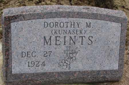 KUNASEK MEINTS, DOROTHY M. - Dodge County, Nebraska   DOROTHY M. KUNASEK MEINTS - Nebraska Gravestone Photos