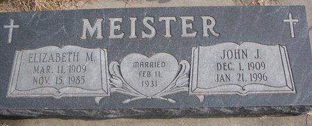 MEISTER, JOHN J. - Dodge County, Nebraska | JOHN J. MEISTER - Nebraska Gravestone Photos