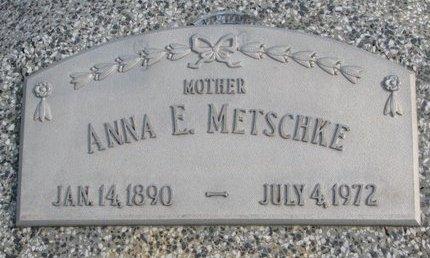 METSCHKE, ANNA E. - Dodge County, Nebraska | ANNA E. METSCHKE - Nebraska Gravestone Photos