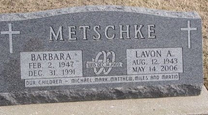 METSCHKE, BARBARA - Dodge County, Nebraska   BARBARA METSCHKE - Nebraska Gravestone Photos