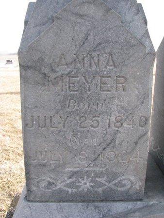 MEYER, ANNA (CLOSE UP) - Dodge County, Nebraska | ANNA (CLOSE UP) MEYER - Nebraska Gravestone Photos