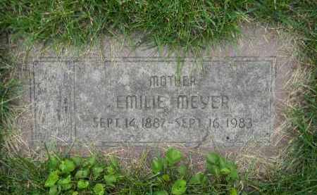 MEYER, EMILIE - Dodge County, Nebraska | EMILIE MEYER - Nebraska Gravestone Photos