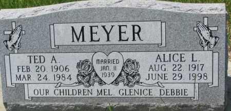 MEYER, ALICE L. - Dodge County, Nebraska | ALICE L. MEYER - Nebraska Gravestone Photos