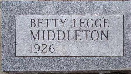 LEGGE MIDDLETON, BETTY FRANCIS - Dodge County, Nebraska   BETTY FRANCIS LEGGE MIDDLETON - Nebraska Gravestone Photos