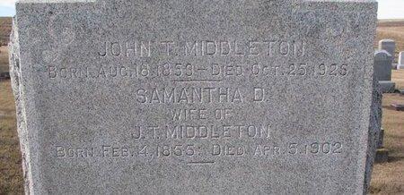 MIDDLETON, SAMANTHA DOBBINS (CLOSE UP) - Dodge County, Nebraska | SAMANTHA DOBBINS (CLOSE UP) MIDDLETON - Nebraska Gravestone Photos