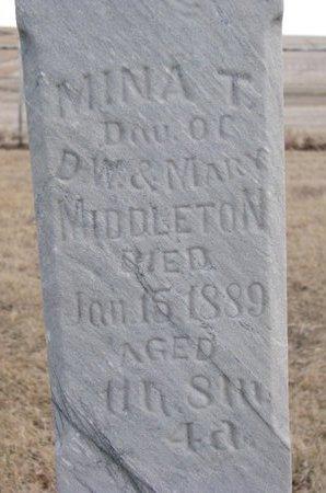 MIDDLETON, MINA T. (CLOSE UP) - Dodge County, Nebraska | MINA T. (CLOSE UP) MIDDLETON - Nebraska Gravestone Photos
