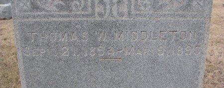MIDDLETON, THOMAS J. (CLOSE UP) - Dodge County, Nebraska | THOMAS J. (CLOSE UP) MIDDLETON - Nebraska Gravestone Photos