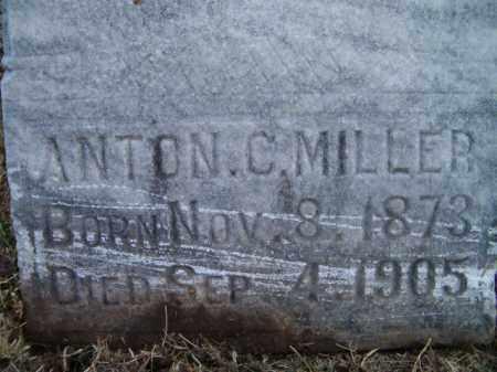 MILLER, ANTON C (CLOSE-UP) - Dodge County, Nebraska   ANTON C (CLOSE-UP) MILLER - Nebraska Gravestone Photos