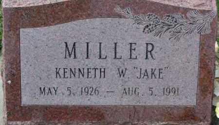 "MILLER, KENNETH W. ""JAKE"" - Dodge County, Nebraska | KENNETH W. ""JAKE"" MILLER - Nebraska Gravestone Photos"