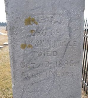 MOLLE, META (CLOSE UP) - Dodge County, Nebraska   META (CLOSE UP) MOLLE - Nebraska Gravestone Photos