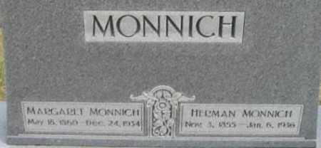 MONNICH, MARGARET - Dodge County, Nebraska | MARGARET MONNICH - Nebraska Gravestone Photos