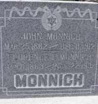 MONNICH, FLORENCE - Dodge County, Nebraska | FLORENCE MONNICH - Nebraska Gravestone Photos