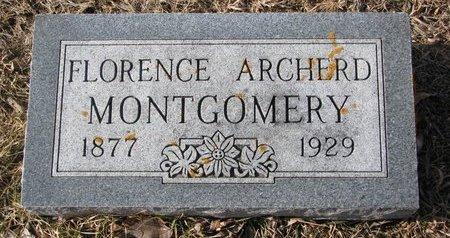 MONTGOMERY, FLORENCE ARCHERD - Dodge County, Nebraska | FLORENCE ARCHERD MONTGOMERY - Nebraska Gravestone Photos