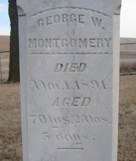 MONTGOMERY, GEORGE W. (CLOSE UP) - Dodge County, Nebraska | GEORGE W. (CLOSE UP) MONTGOMERY - Nebraska Gravestone Photos