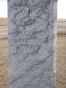 MONTGOMERY, HANNAH SUSAN (CLOSE UP) - Dodge County, Nebraska | HANNAH SUSAN (CLOSE UP) MONTGOMERY - Nebraska Gravestone Photos