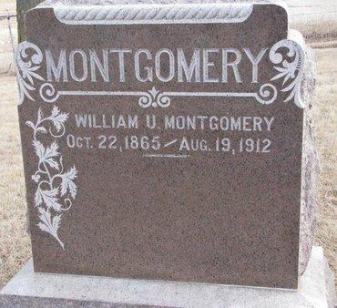 MONTGOMERY, WILLIAM U. - Dodge County, Nebraska | WILLIAM U. MONTGOMERY - Nebraska Gravestone Photos