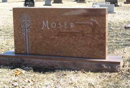 MOSER, (FAMILY MONUMENT) - Dodge County, Nebraska | (FAMILY MONUMENT) MOSER - Nebraska Gravestone Photos