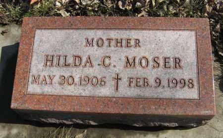 MOSER, HILDA C. - Dodge County, Nebraska | HILDA C. MOSER - Nebraska Gravestone Photos