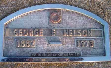 NELSON, GEORGE ELMER - Dodge County, Nebraska | GEORGE ELMER NELSON - Nebraska Gravestone Photos