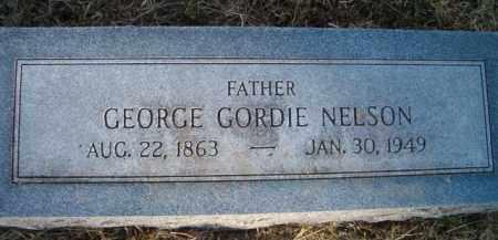 NELSON, GEORGE GORDIE - Dodge County, Nebraska | GEORGE GORDIE NELSON - Nebraska Gravestone Photos