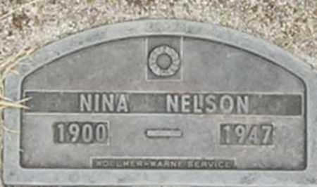 NELSON, NINA - Dodge County, Nebraska | NINA NELSON - Nebraska Gravestone Photos