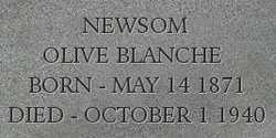 NEWSOM, OLIVE - Dodge County, Nebraska | OLIVE NEWSOM - Nebraska Gravestone Photos