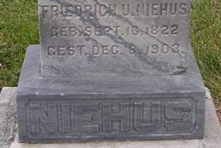 NIEHUS, FRIEDRICH U - Dodge County, Nebraska | FRIEDRICH U NIEHUS - Nebraska Gravestone Photos