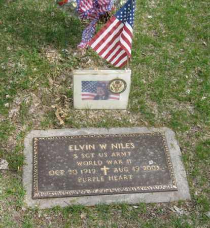 NILES, ELVIN W. - Dodge County, Nebraska | ELVIN W. NILES - Nebraska Gravestone Photos