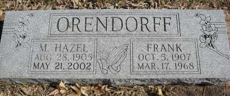 ORENDORFF, FRANK - Dodge County, Nebraska | FRANK ORENDORFF - Nebraska Gravestone Photos