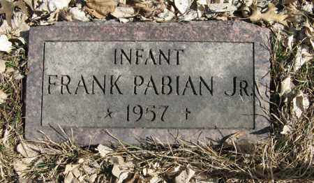 PABIAN, FRANK, JR. - Dodge County, Nebraska | FRANK, JR. PABIAN - Nebraska Gravestone Photos
