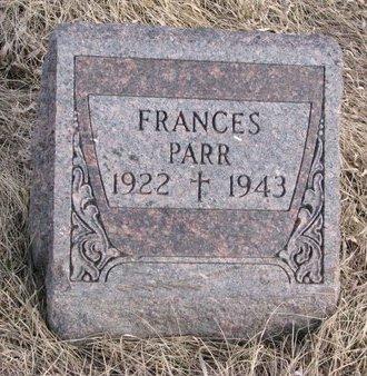 PARR, FRANCES - Dodge County, Nebraska | FRANCES PARR - Nebraska Gravestone Photos
