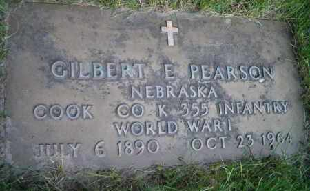 PEARSON, GILBERT E (MILITARY MARKER) - Dodge County, Nebraska | GILBERT E (MILITARY MARKER) PEARSON - Nebraska Gravestone Photos