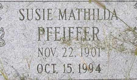 PFEIFFER, SUSIE - Dodge County, Nebraska | SUSIE PFEIFFER - Nebraska Gravestone Photos