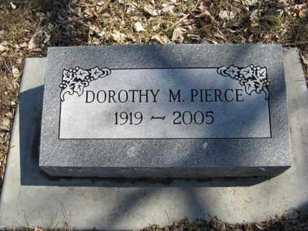 PIERCE, DOROTHY M. - Dodge County, Nebraska | DOROTHY M. PIERCE - Nebraska Gravestone Photos