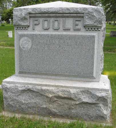 POOLE, WILLIAM H. - Dodge County, Nebraska | WILLIAM H. POOLE - Nebraska Gravestone Photos