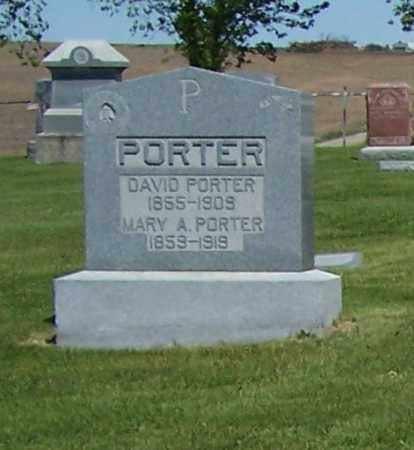PORTER, DAVID - Dodge County, Nebraska | DAVID PORTER - Nebraska Gravestone Photos