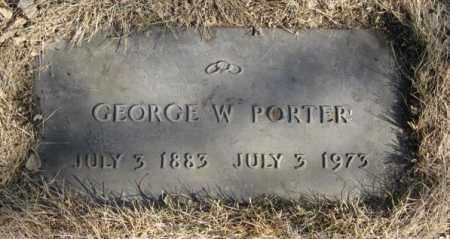PORTER, GEORGE W. - Dodge County, Nebraska | GEORGE W. PORTER - Nebraska Gravestone Photos